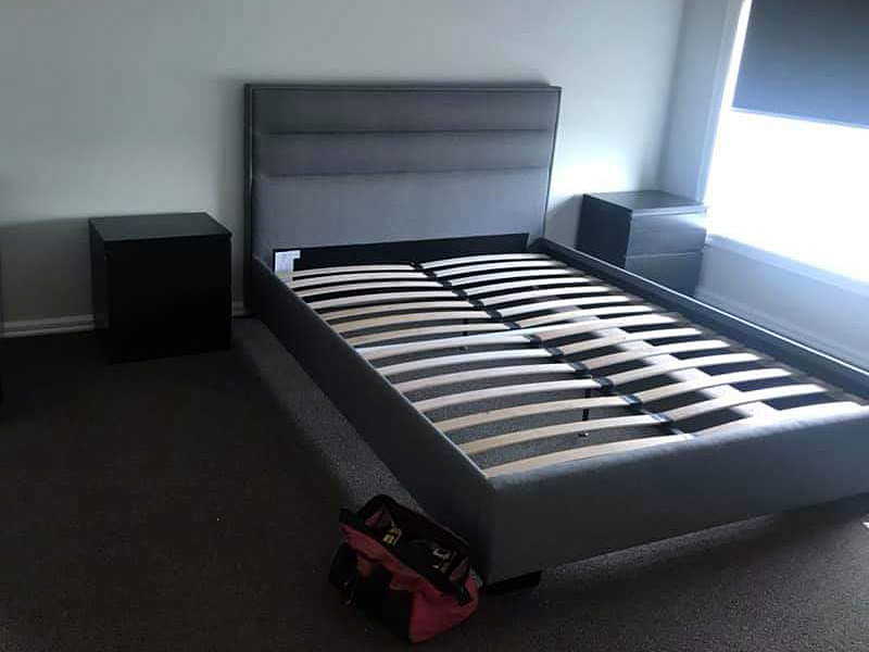 Fully assembled double bed