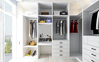 An inbuilt wardrobe to suit you!